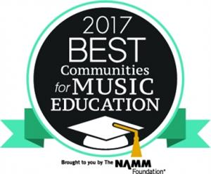 New Hartford recognized as one of the 2017 Best Communities for Music Education by the National Association of Music Merchants Foundation.