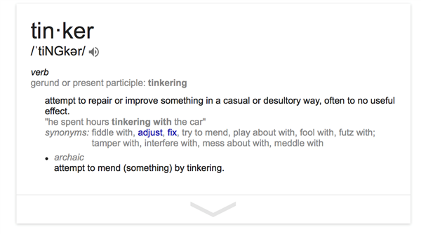 tinker definition
